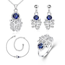 S103 Scorpion Pattern Plated Necklace Drop Earrings Ring Anklet Fashion ... - $14.25