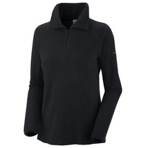 NEW WOMENS 1X Columbia glacial fleece III 3 1/2 zip HALF BLACK NEW NWT $50 - $32.68