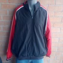 Rennoc Classic black red striped zipper bomber varsity zip up sport jack... - $32.89