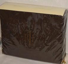 RALPH LAUREN Dunham Chocolate Brown TWIN SHEET SET NWT COTTON - $47.51