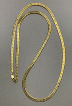 "Vintage Trifari  30"" Gold Tone Herringbone Chain Necklace Signed - $23.72"