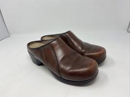 Women's DANSKO Mules Sz 39 Brown Leather Clogs 9810780200 Slip On Comfor... - $39.59