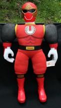 Power Ranger Vtg 2002 Large Red Bandai  Plush Stuffed Action Figure 21 1... - $19.35
