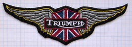 Triumph Motorcycles Cloth Iron On Patches Appli... - $6.30