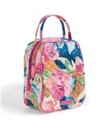 Vera Bradley Quilted Signature Cotton Iconic Lunch Bunch Bag, Superbloom - $32.99