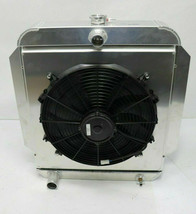 AFCO RADIATOR with FAN and SHROUD 1953-56 Ford Truck  Aluminum  Blem  NEW - $399.99