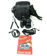 Fujifilm FinePix S1000fd 10.0 MP Digital Camera Case SD Cards Mini Tripo... - $87.03