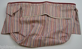 Longaberger Weekend Stripe Basket Liner Market Stripe Fabric Accessory - $12.99