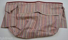 Longaberger Weekend Stripe Basket Liner Market Stripe Fabric Accessory - $12.99