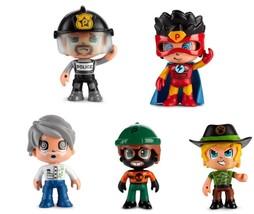 Pinypon Pack 5 Figures Children Pin And Pon Cop Scientific Superhero Thi... - $214.88