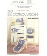 Simplicity 7362 Daisy Kingdom Babies Nursery Room Accessories Pattern UNCUT FF - $12.47