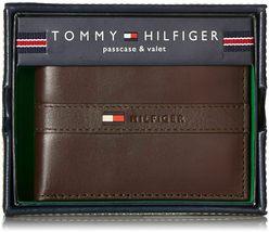 Tommy Hilfiger Men's Leather Credit Card Wallet Billfold Brown 5673-02 image 4