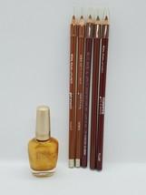 Makeup Lip & Nail Kit Jordana Lip Liner 5 Full Sticks, 1 Lg Bottle Of Polish - $11.30