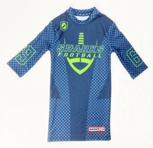 Siege Sports Sharks Football Half Sleeve Compression Tee Boy's M Navy CP... - $22.76