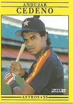 Baseball Card- Andujar Cedeno 1991 Fleer #502 - $1.25