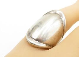 MEXICO 925 Silver - Vintage Smooth Raised Edge Shield Band Ring Sz 7 - R... - $52.46