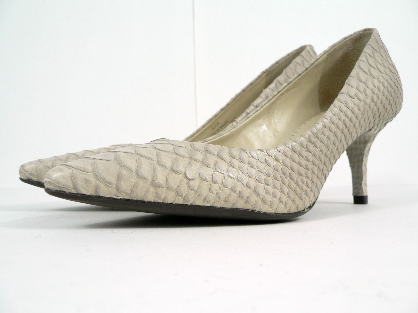 a319c78c18f Talbots Light Gray Leather Faux Snakeskin and 11 similar items
