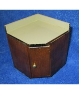 Dollhouse Miniature Brown Wood Kitchen Corner Base Cabinet 1:12 Scale Ne... - $14.84