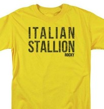 Rocky Italian Stallion T-shirt Logo Retro 70's 80's Movie Distressed tee MGM183 image 2