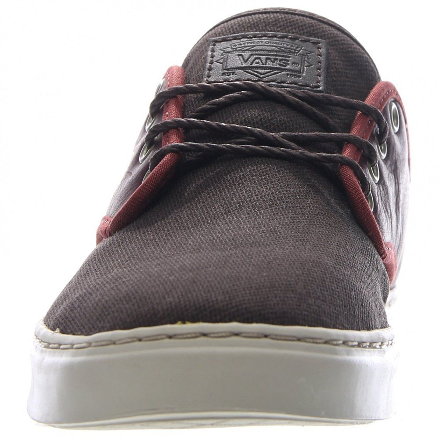 VANS OTW COLLECTION LUDLOW + LEATHER HENNA BROWN SHOES MENS SZ 7.5 BURGUNDY image 4
