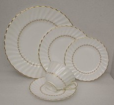ADRIAN by Royal Doulton China 5 PIECE PLACE SETTING (s) 4816 Gold Laurel... - $33.94