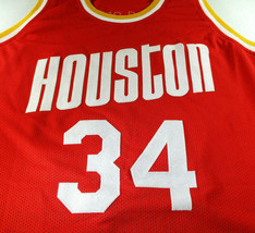 HAKEEM OLAJUWON / NBA HALL OF FAME / AUTOGRAPHED HOUSTON ROCKETS CUSTOM JERSEY image 2