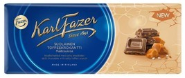 Karl Fazer milk chocolate with salty toffee crunch 10 Bars 2kg / 70oz - $69.29