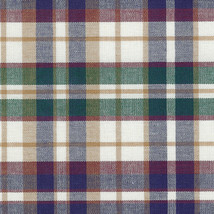 "Longaberger 12"" Generations Basket Woven Traditions Plaid Fabric OE Line... - $12.82"