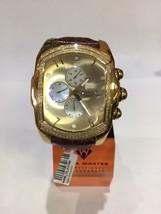 Invicta Aqua Master Jojo Lupah St Steel GOLD tone Watch 1.50ct diamonds - $522.40