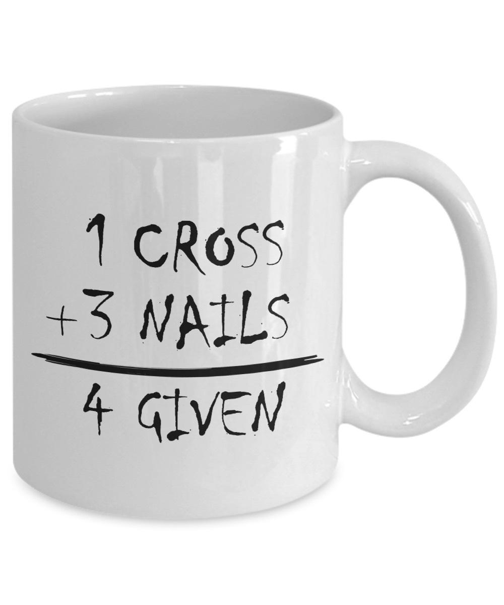 God's Math Christian Gift 1 Cross 3 Nails 4 Given Jesus Christ Savior Ceramic Co