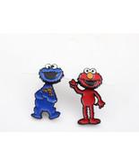 Sesame Street Stud Earrings , Cookie Monster And Elmo Earrings, The Mupp... - $17.50+