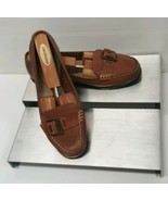 "Thom McAn ""Gwen"" Brown Leather Loafer Women's sz 8.5 W Shoes - $14.85"