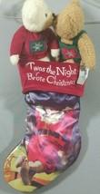 Hallmark 'Twas The Night Before Christmas Stocking Kissing Teddy Bears 1... - $19.39