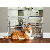Carlson Pet Gray Plastic Expandable Gate W/ Steel Support Rod 23 Inch 89... - $42.04