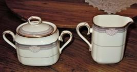 Noritake Stanford Court Sugar Bowl & Creamer 9748 Fine Bone China Japan ... - $44.54