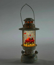 """10""""  Water Lantern w Two Red Cardinals - Lights Up w Floating Glitter Christmas image 2"""