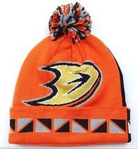 Anaheim Ducks Mitchell & Ness 2FACE Nhl Team Pom Pom Knit Hockey CAP/BEANIE - $20.85