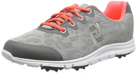 NEW! FootJoy enJoy [10] Medium Women's Golf Shoes-  95703 Grey Mist - $88.98