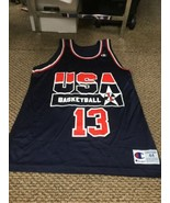 Shaquille O'Neal Team USA Blue Champion Jersey 44 Excellent Condition - $98.99