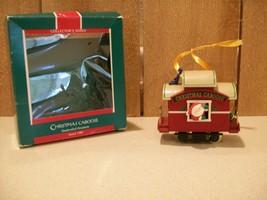 Vintage Hallmark Christmas Ornament Christmas Caboose 1989 Collector's S... - $10.00