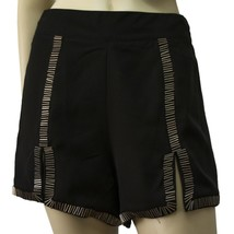 Goldie London black pair of evening shorts with beads & front slits size S - $48.51