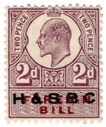 (I.B) Edward VII Revenue : Foreign Bill 2d (H&SBC pre-cancel) - €8,34 EUR