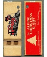 Alpine Christmas Gift Shop keychain whistle, Toycrafter, wooden - $4.75