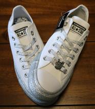 Womens Converse x Miley Cyrus CTAS Ox Glitter 162238C White Size 7.5 Unisex NWB - $55.98