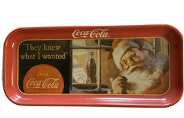 Coca-Cola Tin Trey 1992 Santa Clause 16 X 6 - $14.62