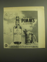 1959 Pimm's Cup No. 1 Ad - Cool off with an iced Pimm's - $14.99