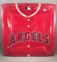 MLB Los Angeles ANGELS of ANAHEIM Baseball Party Dinner Plates 18 Count ... - $16.82