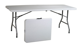 6ft Folding Table Foot Fold Up Tall Fold Out 6 Ft Folding Quik-Fold Side... - $87.92