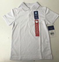 Arrow Boys Size Small (6/7) School Approved Moisture Wicking Polo Shirt, White - $7.76