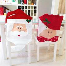 Claus Mrs. Claus Cap Chair Covers Christmas Dinner Table Decoration For ... - $3.14+